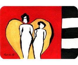 """Acryl Bild """"Ich und mein Engel +"""""""