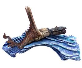 "Treibholz-Artwork ""Flying Fish"""