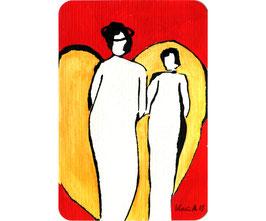 """Acryl Bild """"Ich und mein Engel"""""""