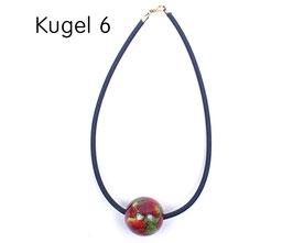 Halsband mit Kugel rot / grün / gelb