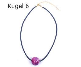 Halsband mit Kugel pink