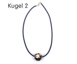 Halsband mit Kugel schwarz / gold