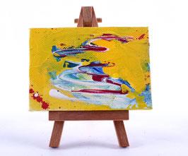"""Acryl Mini-Bild """"Abstrakt"""""""