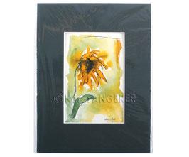 "Aquarell Bild ""Sonnenblume"""