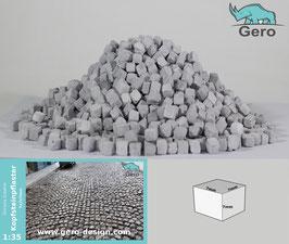 """GERO KERAMIK """" Kopfsteinpflaster """" 1 :35 - 7mmx7mmx7mm - cobblestones"""