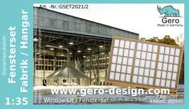 "GERO Lasercut ""Fensterset Fabrik / Hangar "" 1:35 - 3 Fenster"