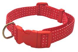 "Collar para Perro ""Rojo Topitos"""