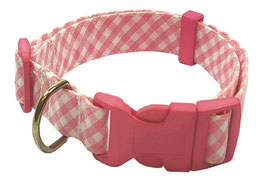 "Collar para Perro ""Cuadrito Rosa"""