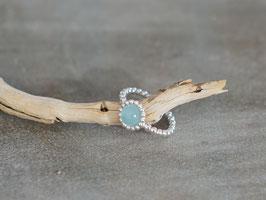 Ring silber mit Stein Aqua Marin