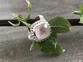 Ring silber Rosenquarz