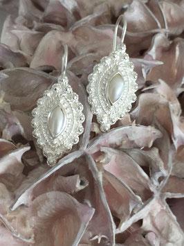 Ohrhänger Orient Silber mit Süsswasserperle
