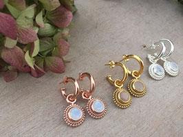 Ohrhänger silber, gold, rosé