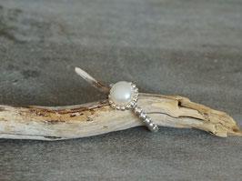 Ring silber mit Süsswasserperle