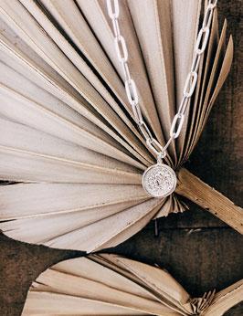 Halskette mit Anker in silber