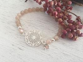 Armkette Elast mit Ornament und Stein