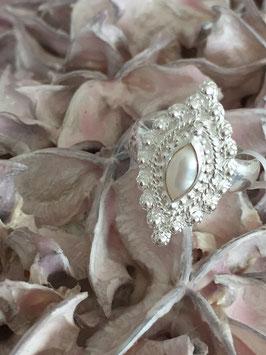 Ring Orient Silber mit Süsswasserperle