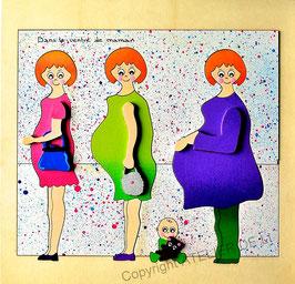 Puzzle grossesse maman blonde