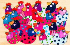 Petit puzzle poules