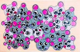 Petit puzzle souris rondes