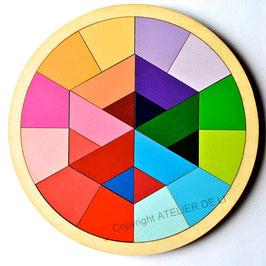 Puzzle rond géométriques sur 2 niveaux