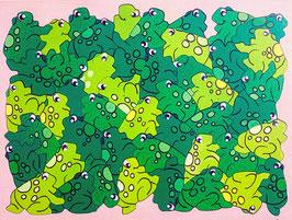 Grand puzzle grenouilles
