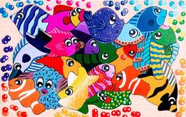 Petit puzzle poissons exotiques