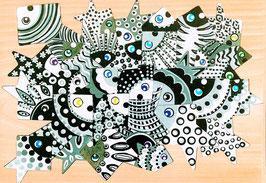 Grand puzzle poissons géométrique