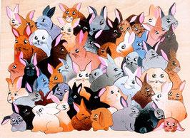 Grand puzzle lapins