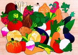 Grand puzzle légumes du potager