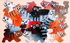 Petit puzzle chats tigrés