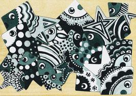 Petit puzzle poissons géométriques