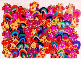 Grand puzzle poule