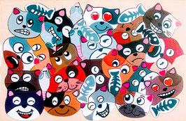 Petit puzzle chat poisson souris