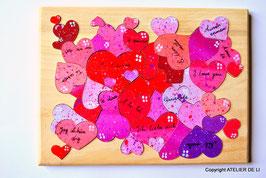 Grand puzzle coeur je t'aime