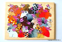 Grand puzzle lapin