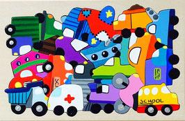 Petit puzzle véhicules