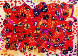 Grand puzzle poissons rouges
