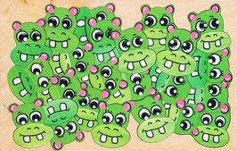 Petit puzzle hypopotames verts