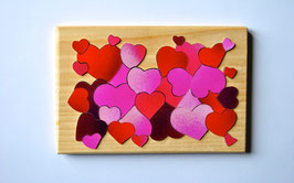 Petit puzzle coeur rose