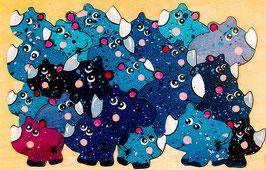 Petit puzzle rhinocéros