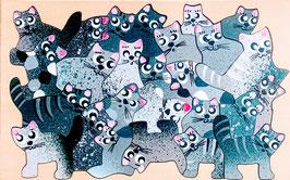 Petit puzzle chatons gris