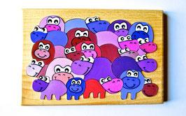 Petit puzzle hippopotames