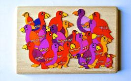 Petit puzzle oiseaux rouges