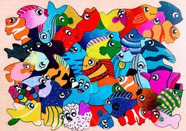 Grand puzzle poissons exotiques