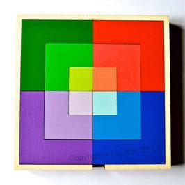 Puzzle couleurs géométriques 3 niveaux