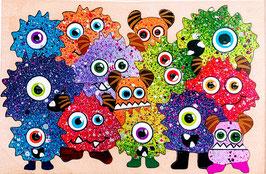 Petit puzzle monstres colorés