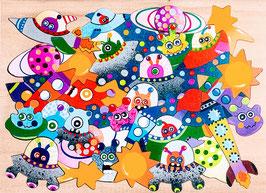 Grand puzzle espace