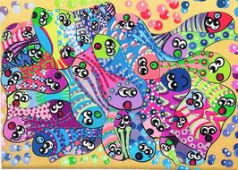 Petit puzzle poissons bleus et verts