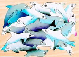 Grand puzzle dauphins
