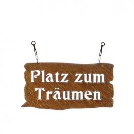 """Gratis VERSAND - Metall Tafel """"Platz zumTräumen"""", L45B23cm, mit Kette"""